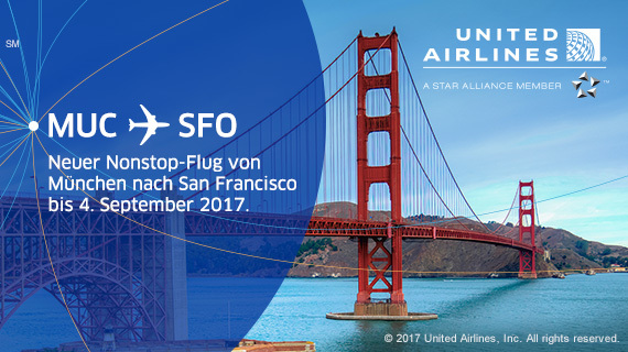 United Airlines: Neue Route München - San Francisco
